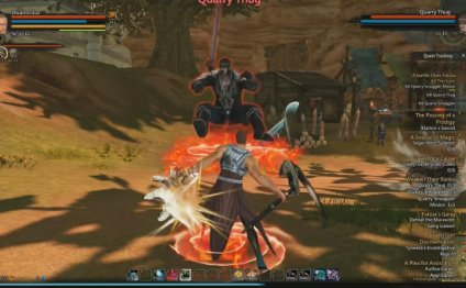MMORPG Action combat